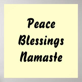 Peace, Blessings, Namaste. Print