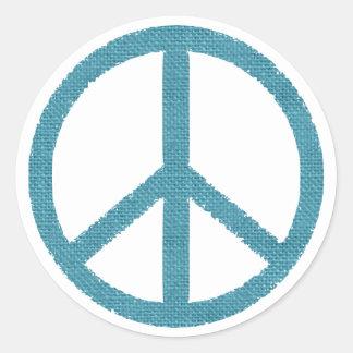 peace blue cloth-like sticker