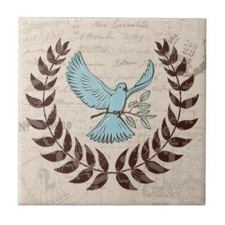 Peace Blue Dove Tile