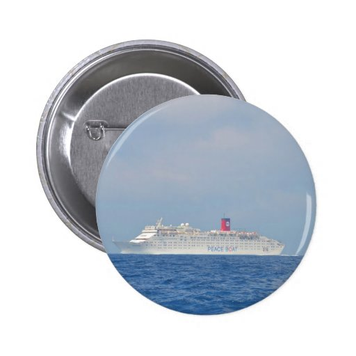 Peace Boat Pinback Buttons