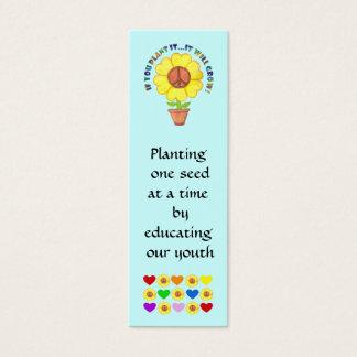 Peace Bookmark Mini Business Card