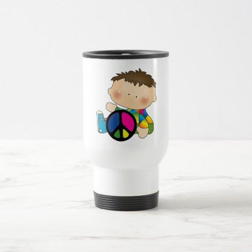 Peace - Boy Tshirts and Gifts Coffee Mugs