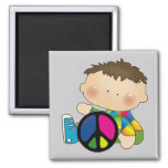 Peace - Boy Tshirts and Gifts Refrigerator Magnets