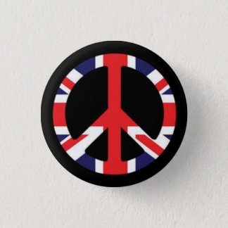 Peace British Pinback Button