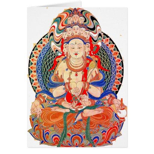 Peace Buddah Card