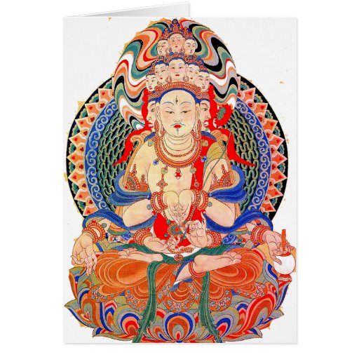 Peace Buddah Greeting Card