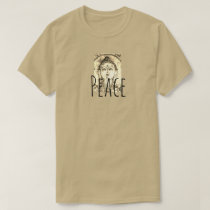 Peace Buddha Art Men's Shirt