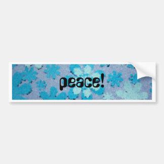 PEACE! CAR BUMPER STICKER