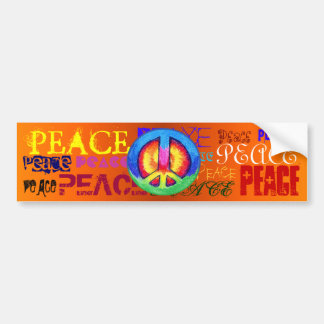 Hippie Bumper Stickers Car Stickers Zazzle - Stickers zazzle