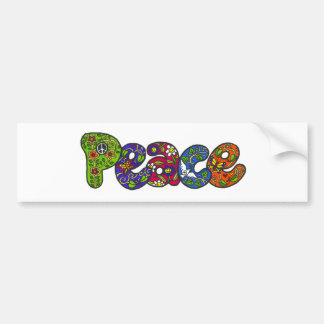 Peace Bumpersticker Car Bumper Sticker