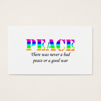 Peace Business Card