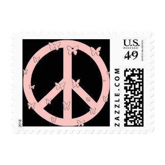 Peace butterflies stamp