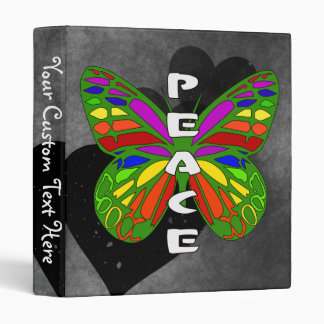 Peace Butterfly 3 Ring Binder