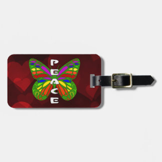 Peace Butterfly Bag Tag