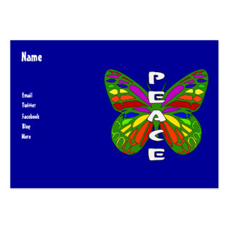 Peace Butterfly Business Card Template