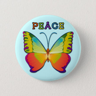 PEACE BUTTERFLY BUTTON
