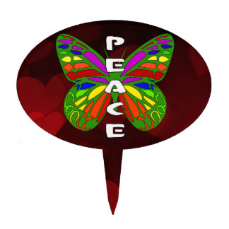 Peace Butterfly Cake Topper