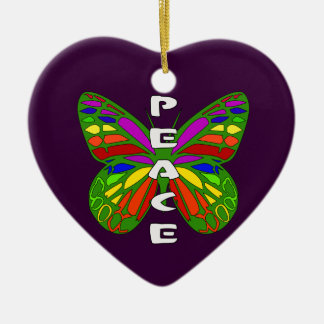Peace Butterfly Ceramic Ornament