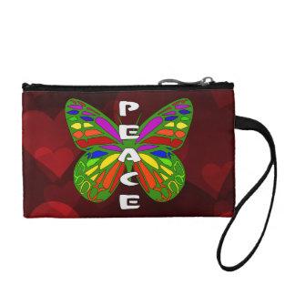 Peace Butterfly Change Purse