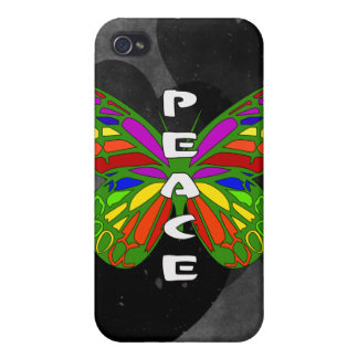 Peace Butterfly iPhone 4/4S Cases