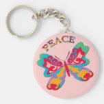 PEACE BUTTERFLY KEY CHAIN