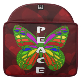 Peace Butterfly Sleeves For MacBook Pro