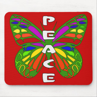 Peace Butterfly Mouse Pad