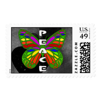 Peace Butterfly Postage Stamps