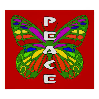 Peace Butterfly Print