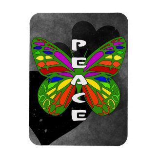 Peace Butterfly Vinyl Magnets