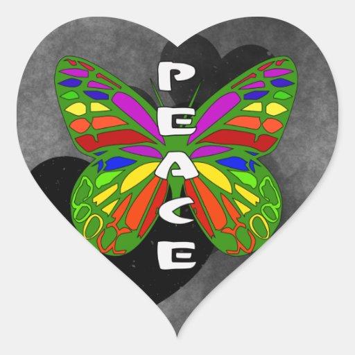 Peace Butterfly Sticker