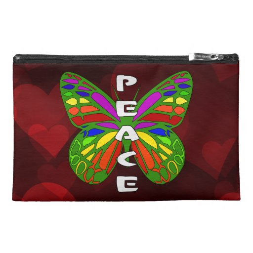 Peace Butterfly Travel Accessories Bag