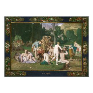 Peace by Pierre Puvis de Chavannes Custom Invites