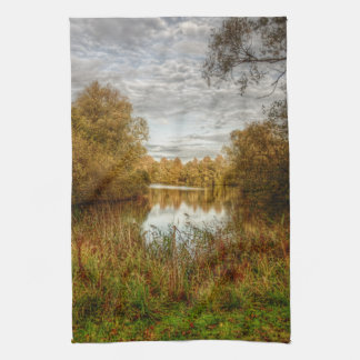 Peace by the Lake HDR kitchen Tea towel