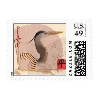 Peace Calligraphy Postage