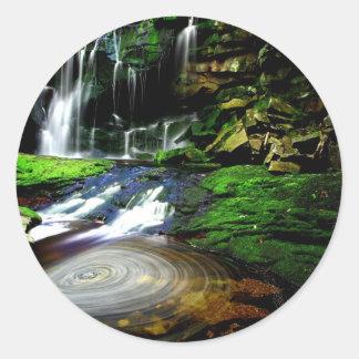 Peace calm beauty water Elakala Waterfalls  USA Classic Round Sticker