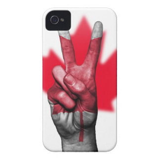 Peace Canada Flag Canadian Parliament Government iPhone 4 Case