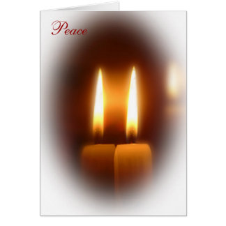 Peace Candles Holiday Card