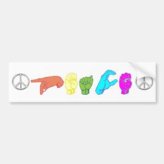 Peace Car Bumper Sticker