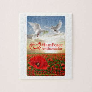 Peace Card Original with www front Jigsaw Puzzle