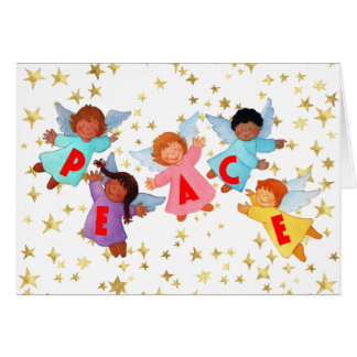 Peace Card with Angels
