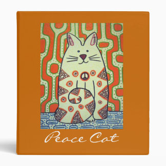 Peace Cat art binder