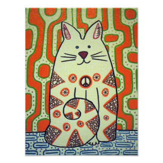 Peace Cat canvas print