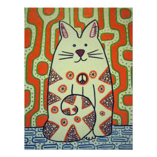 Peace Cat poster