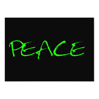 """PEACE CAUSES SHOUT-OUTS MOTTO MOTIVATIONAL EXPRESS 5"""" X 7"""" INVITATION CARD"""