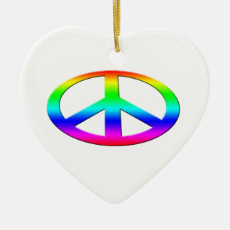 Peace Ceramic Ornament