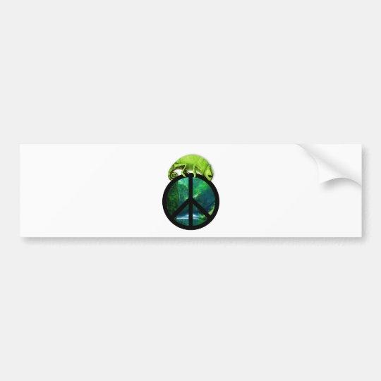 peace chameleon bumper sticker