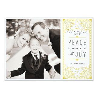 Peace Cheer Joy Holiday Photo Card