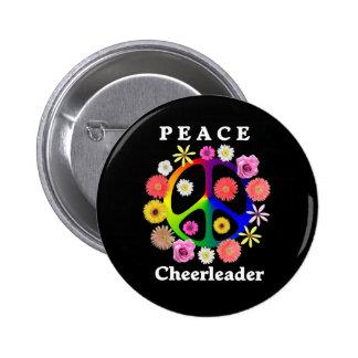 Peace Cheerleader Button
