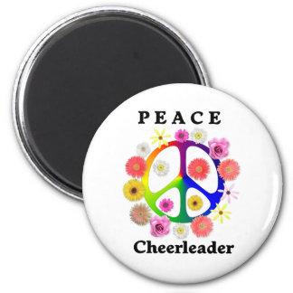 Peace Cheerleader Magnet
